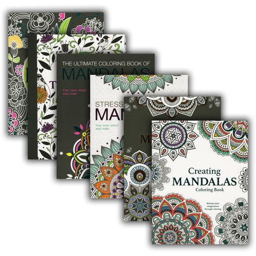 Case of [48] MANDALAS Adult Coloring Books
