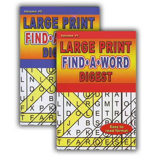 Case of [48] Large Print Find-A-Word Puzzles Book Digest Size