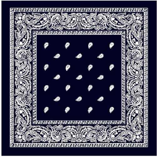 Case of [144] Navy Blue Paisley Bandana