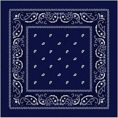 Case of [144] Royal Blue Paisley Bandana