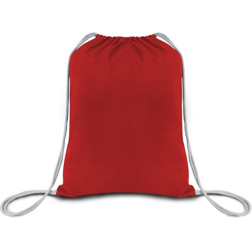 """Case of [216] 18"""" Basic Red Drawstring Backpack - Canvas"""