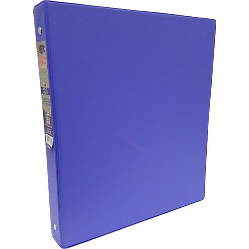 "Case of [24] 1"" Hard Cover (PVC Free) 3-Ring Binder - Purple"