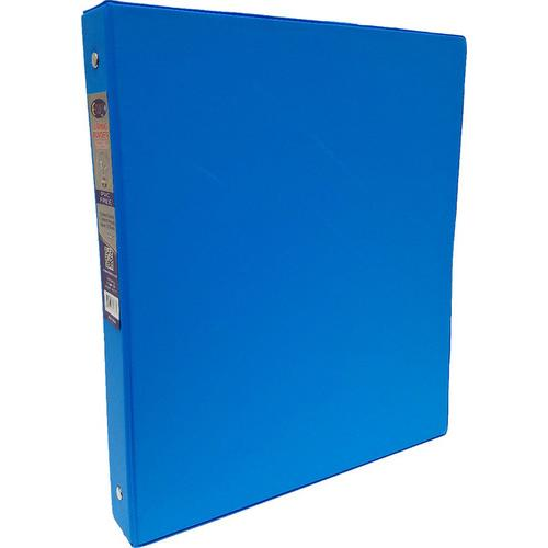 "Case of [24] 1"" Hard Cover (PVC Free) 3-Ring Binder - Neon Blue"