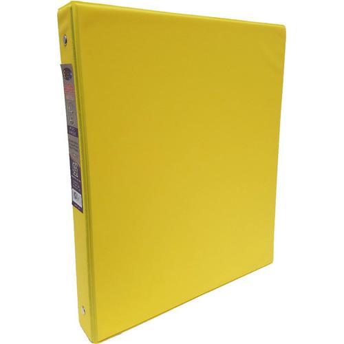"Case of [24] 1"" Hard Cover (PVC Free) 3-Ring Binder - Neon Yellow"
