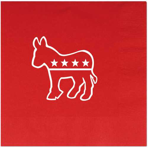 Case of [12] Democratic Luncheon Napkins - (2-Ply) Red