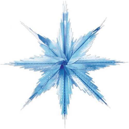 Case of [12] 2-Tone Metallic Snowflakes - Blue & Silver