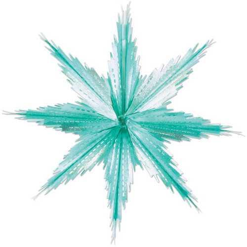 Case of [12] 2-Tone Metallic Snowflakes - Turquoise & Silver