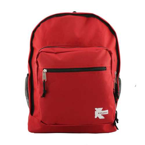 "Case of [24] 17"" Premium Multi-Pocket backpacks - Red"