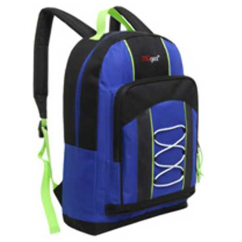 """Case of [20] 15"""" Classic Bungee Pocket Backpack - Blue"""