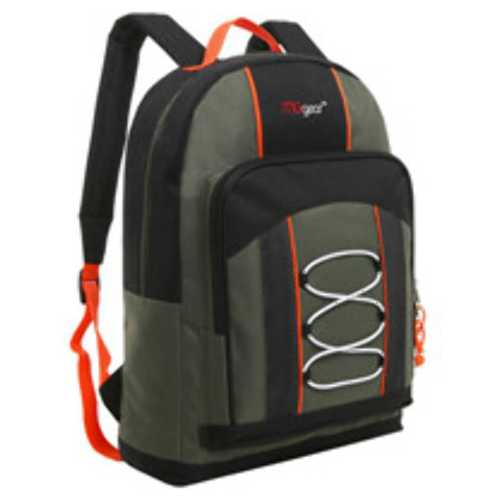 """Case of [20] 15"""" Classic Bungee Pocket Backpack - Green"""