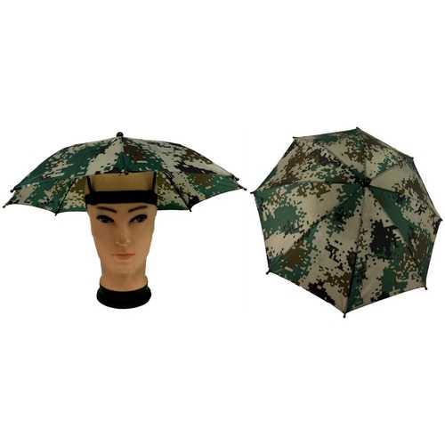 Case of [60] Camouflage Print Umbrella Hat