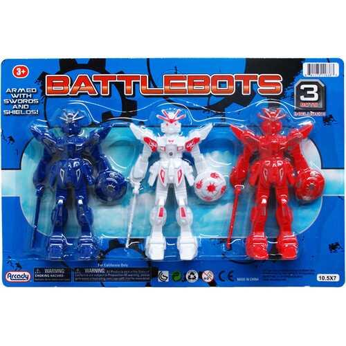"Case of [48] 3-Piece 4.5"" Assorted Battle Robot"