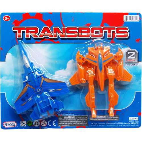 """Case of [48] 2-Piece 5 And 6"""" Assorted Transbots Robot"""