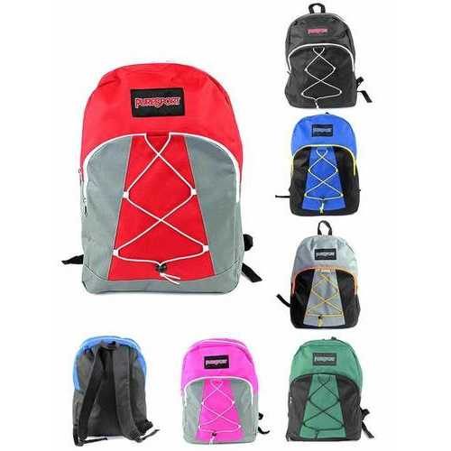 "Case of [12] 17"" PureSport Classic Bungee Backpacks - Assorted Colors"