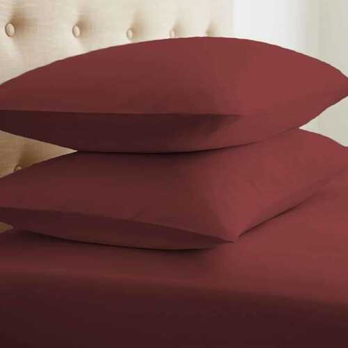 Case of [24] Soft Essentials Double-Brushed Microfiber 2 Piece Pillow Case Set - Burgundy - King