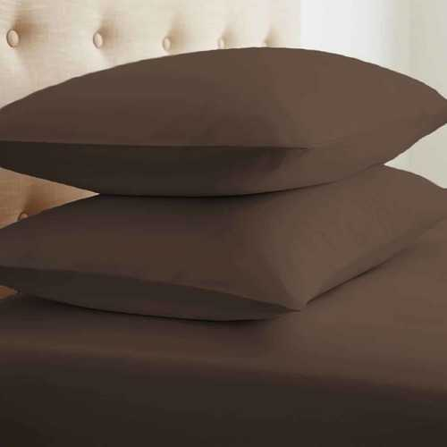 Case of [24] Soft Essentials Double-Brushed Microfiber 2 Piece Pillow Case Set - Chocolate - King