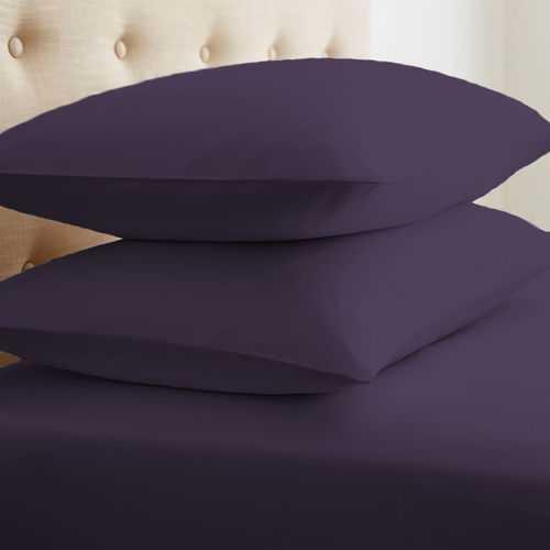 Case of [24] Soft Essentials Double-Brushed Microfiber 2 Piece Pillow Case Set - Purple - King