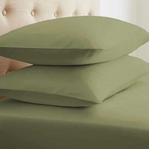 Case of [24] Soft Essentials Double-Brushed Microfiber 2 Piece Pillow Case Set - Sage - Standard