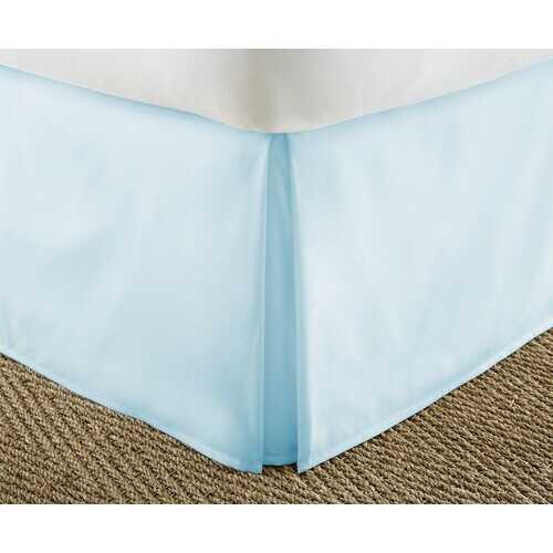 Case of [12] Soft Essentials Premium Pleated Bed Skirt Dust Ruffle - Aqua - King