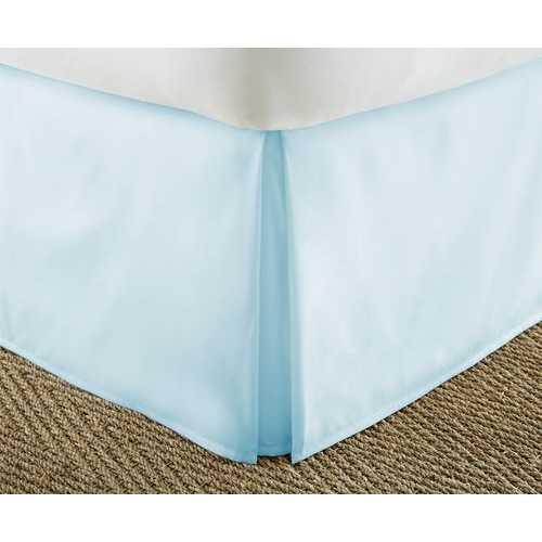 Case of [12] QueenPremium Pleated Bed Skirt Dust Ruffle - Aqua