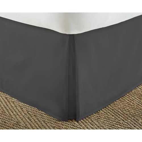 Case of [12] California KingPremium Pleated Bed Skirt Dust Ruffle - Black