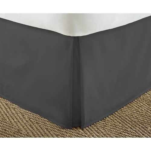 Case of [12] Soft Essentials Premium Pleated Bed Skirt Dust Ruffle - Black - Full