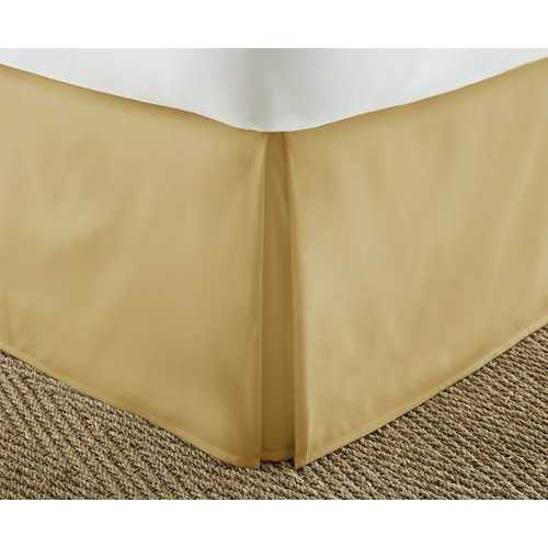 Case of [12] Soft Essentials Premium Pleated Bed Skirt Dust Ruffle - Gold - Cal King