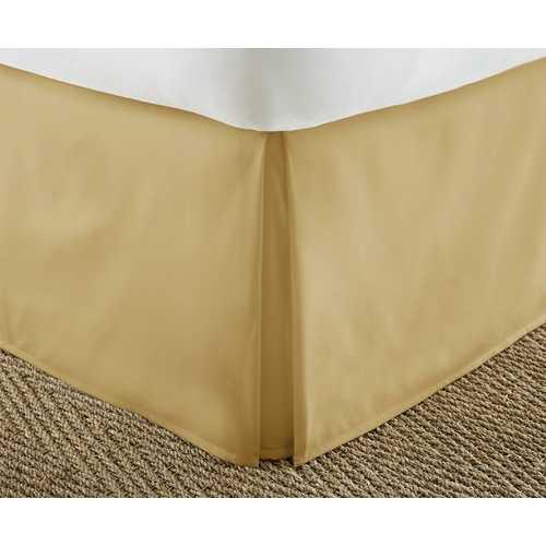Case of [12] FullPremium Pleated Bed Skirt Dust Ruffle - Gold