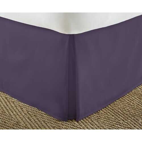 Case of [12] California KingPremium Pleated Bed Skirt Dust Ruffle - Purple