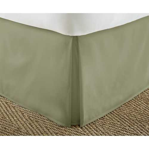 Case of [12] Soft Essentials Premium Pleated Bed Skirt Dust Ruffle - Sage - King