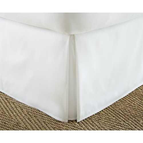 Case of [12] FullPremium Pleated Bed Skirt Dust Ruffle - White