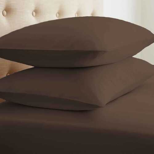 Case of [6] King Microfiber 8 Piece Bed in a Bag - Chocolate