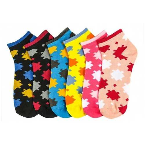 Case of [108] Women's Puzzle Piece Ankle Socks Size 9-11