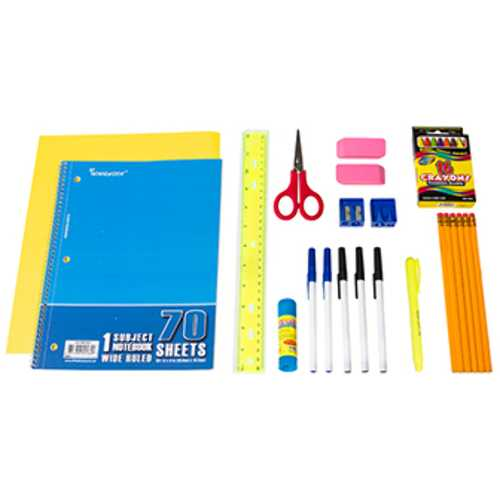 Case of [12] Pre-Filled Pencil Pouch Kit (22 pc.)