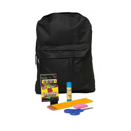 "Case of [12] Pre-Filled 15"" Backpack Kit (13 pc.)"