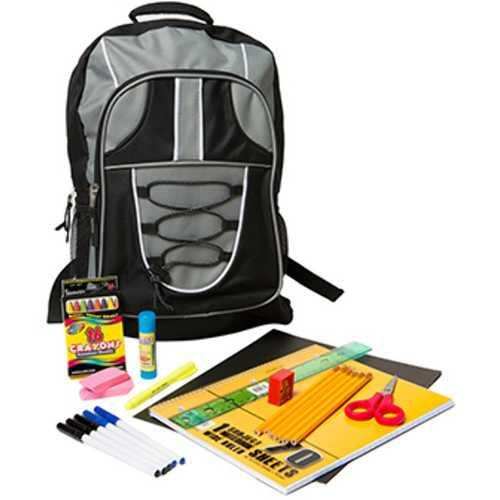 "Case of [12] Pre-Filled 17"" Backpack Kit (23 pc.)"