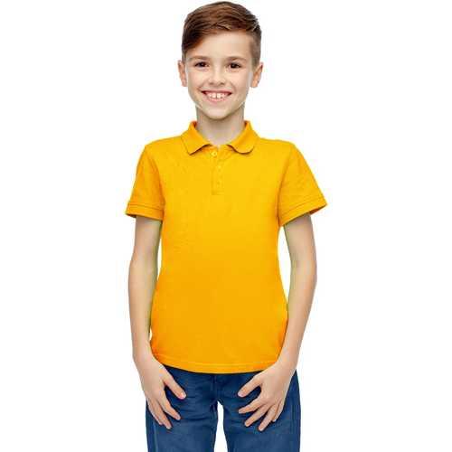 Case of [36] Boys Short Sleeve Gold Polo Shirts - Size 8-14