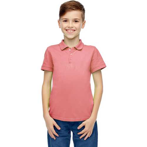 Case of [36] Boys Short Sleeve Pink Polo Shirts - Size 8-14
