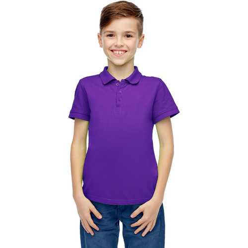 Case of [36] Boys Short Sleeve Grape Polo Shirts - Size 4-7