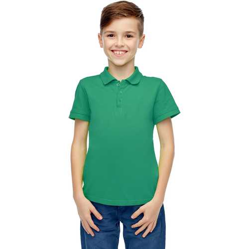 Case of [36] Boys Short Sleeve Teal Polo Shirts - Size 4-7