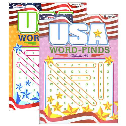 Case of [48] USA Word Finds Puzzle Book