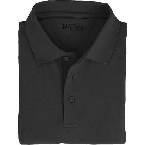 Case of [36] Adult Short Sleeve Black Polo Shirts - Sizes M-XXL