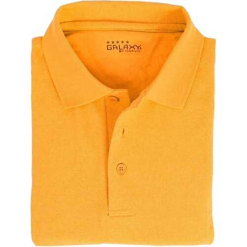 Case of [36] Adult Short Sleeve Gold Polo Shirts - Sizes M-XXL