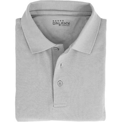 Case of [36] Adult Short Sleeve Heather Gray Polo Shirts - Sizes M-XXL