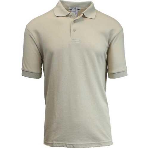 Case of [36] Adult Short Sleeve Khaki Polo Shirts - Sizes M-XXL