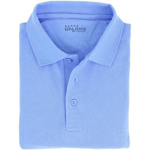 Case of [36] Adult Short Sleeve Light Blue Polo Shirts - Sizes M-XXL