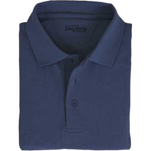 Case of [36] Adult Short Sleeve Navy Polo Shirts - Sizes M-XXL