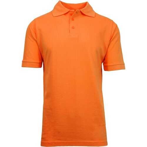 Case of [36] Adult Short Sleeve Orange Polo Shirts - Sizes M-XXL