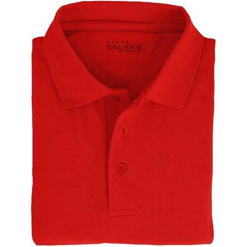 Case of [36] Adult Short Sleeve Red Polo Shirts - Sizes M-XXL