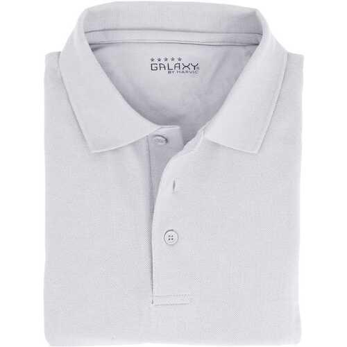 Case of [36] Adult Short Sleeve White Polo Shirts - Sizes M-XXL